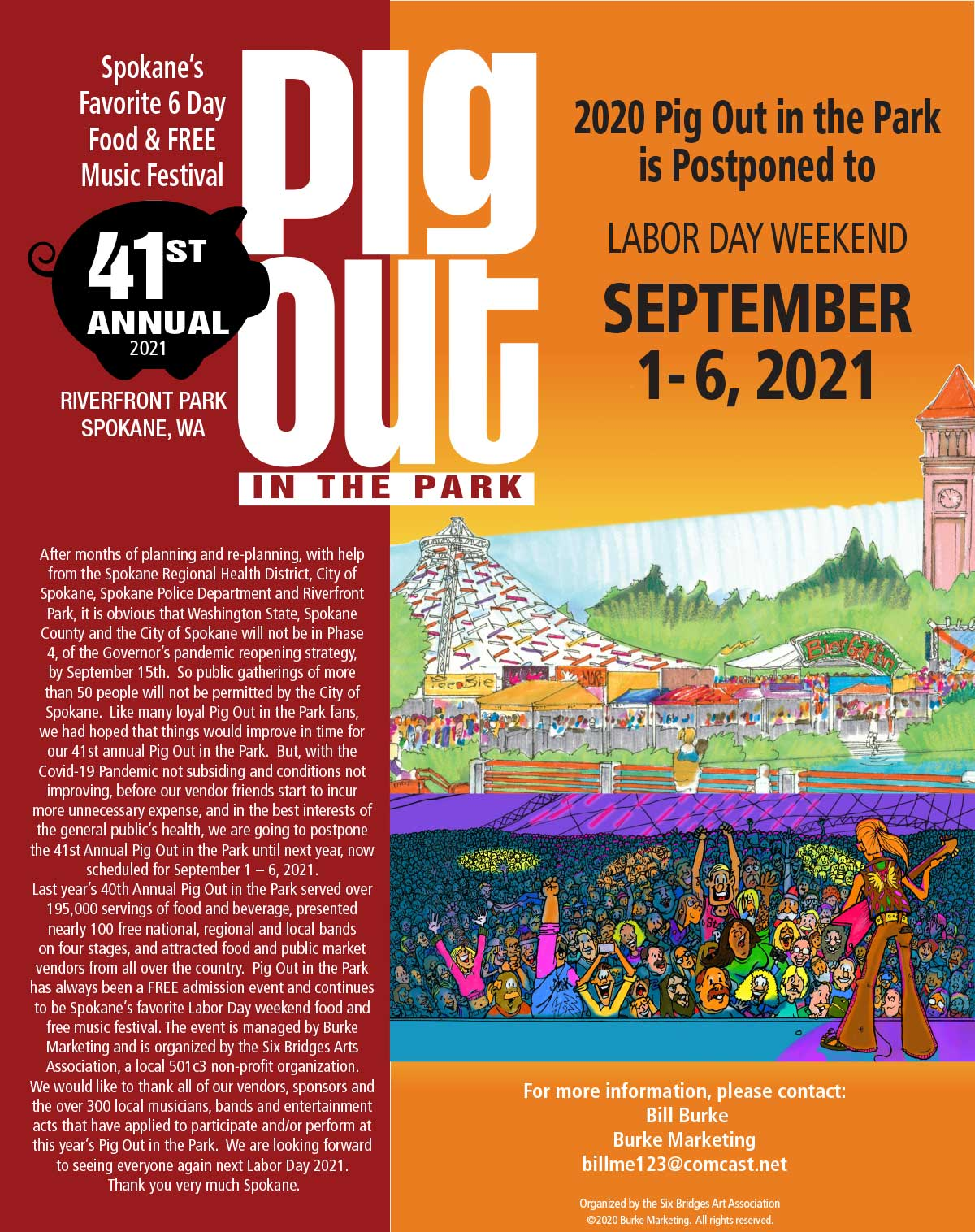 Pig Out In The Park Spokane's Favorite 6 Day Food & FREE Music Festival